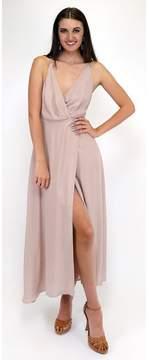 Ark & Co Making Me Blush Wrap Maxi Dress