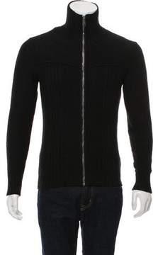 Christian Dior Wool Zip-Up Sweater
