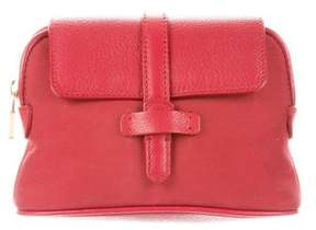 Loro Piana Nylon Leather-Trimmed Pouch
