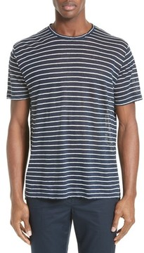 ATM Anthony Thomas Melillo Men's Stripe Linen Jersey T-Shirt