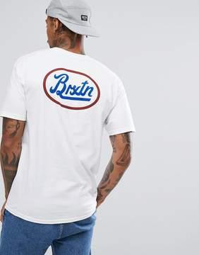 Brixton Kansas T-shirt With Back Print