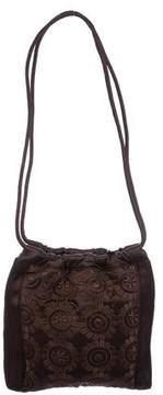 Judith Leiber Embroidered Satin Evening Bag