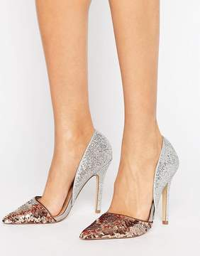 Miss KG Andi Metallic Two Part Heeled Shoes