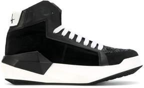 Cinzia Araia contrast lace up sneakers