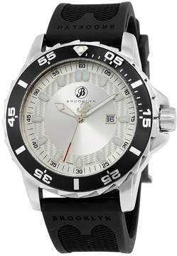 Co Brooklyn Watch Brooklyn Waterbury Sports Diver Silver Dial Swiss Quartz Watch