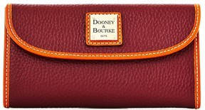 Dooney & Bourke Pebble Grain Continental Clutch Wallet - BORDEAUX - STYLE