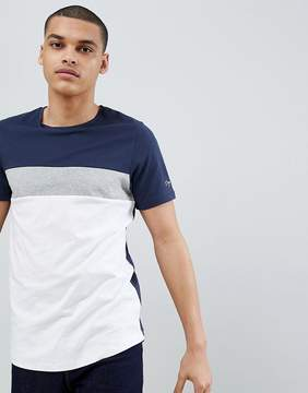 Jack and Jones Originals Longline T-Shirt With Block Panel Details