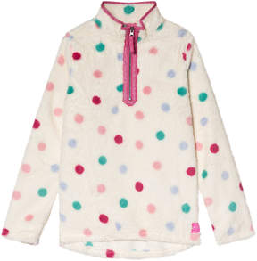 Joules Cream Spot Half Zip Fleece