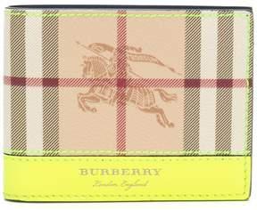 Burberry Haymarket check billfold wallet