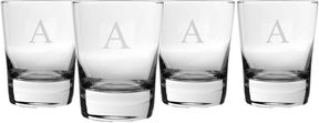 Accessories Set of 4 Engravable Double Old-Fashioned Glasses
