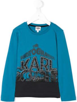 Karl Lagerfeld 'photographer' print sweatshirt