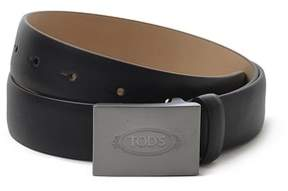 Tod's Men's Black Leather Belt.