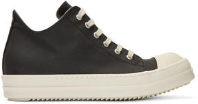Rick Owens Black Nylon Cap Toe Sneakers