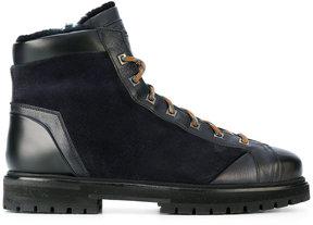 Santoni lace-up boots