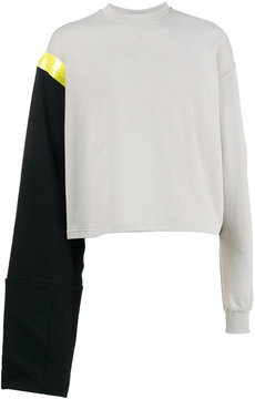 Raf Simons Cropped taped sweater