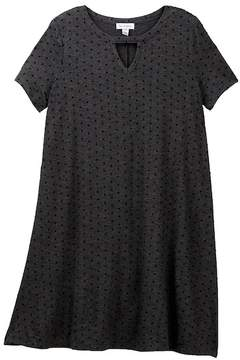 Love, Fire Flocked Dot Shift Dress (Big Girls)