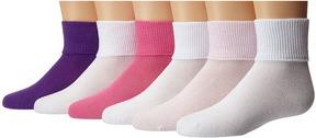 Jefferies Socks Turncuff 6 Pair Pack Girls Shoes
