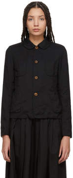 Comme des Garcons Black Crinkle Jacket