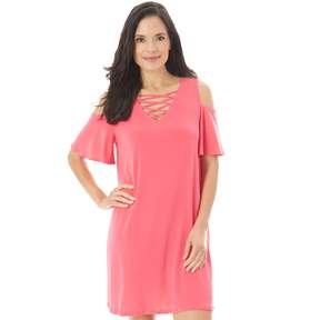 Apt. 9 Women's Crisscross Cold-Shoulder Swing Dress