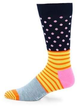 Happy Socks Mixed-Print Crew Socks