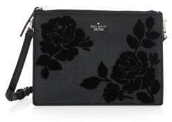 Kate Spade Cameron Street Flock Roses Clarise Crossbody Bag