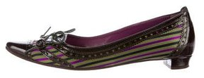 Etro Tie-Accented Leather Flats