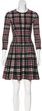 Alexander McQueen Plaid Intarsia Dress