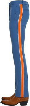 Calvin Klein 20cm Wool Twill Pants W/ Side Bands