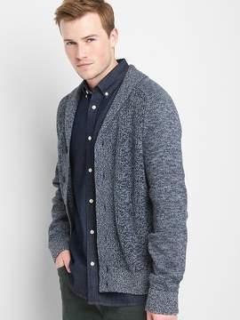 Gap Shaker stitch shawl-collar cardigan