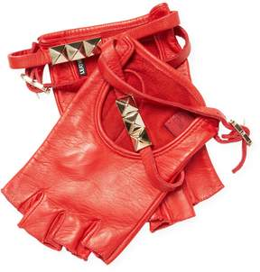 Valentino Women's Signature Short Leather Gloves