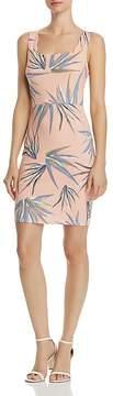 Aqua Palm Print Scalloped Body-Con Dress - 100% Exclusive