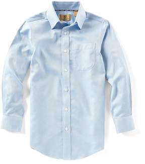Class Club Gold Label Big Boys 8-20 Herringbone Button-Down Long-Sleeve Shirt