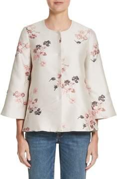 Co Floral Jacquard Swing Jacket