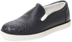 Bottega Veneta Men's Round-Toe Slip-On Sneaker