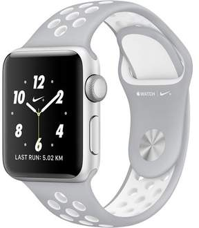 Apple Refurbished Watch Nike+ Series 2, 42mm Silver Aluminum Aluminum Case with Pure Platinum / White Nike Sport Band