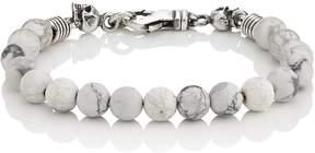 Emanuele Bicocchi Men's White Marble Beaded Bracelet