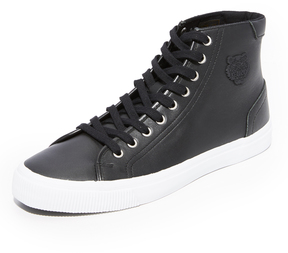 Kenzo Vulcano Leather High Top Sneakers
