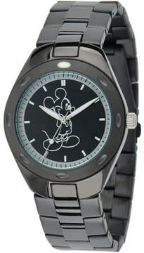 Disney Mickey Mouse Men's Fortaleza Stainless Steel Watch, Black Bracelet