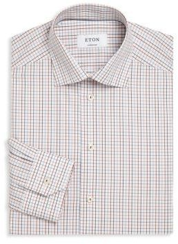 Eton Contemporary-Fit Checked Dress Shirt
