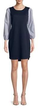 Gabby Skye Three-Quarter Textured Dress