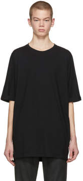 Helmut Lang Black Oversized Uni Sleeve T-Shirt