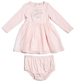 GUESS Long-Sleeve Two-Fer Dress (0-24m)