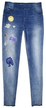 Tractr Girl's Patches Pull On Skinny Jeans