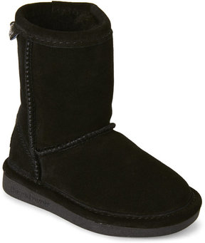 BearPaw Toddler Girls) Black Eva Short Sheepskin Boots