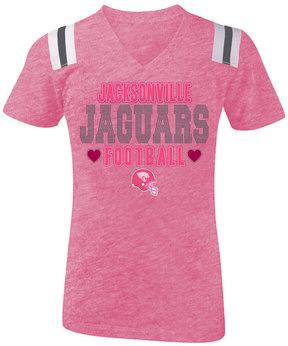 5th & Ocean Jacksonville Jaguars Heart Football T-Shirt, Girls (4-16)