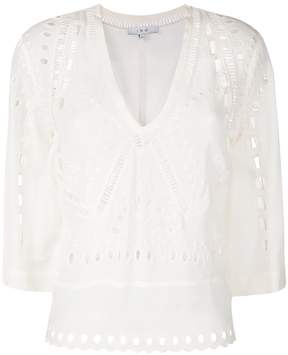 IRO v-neck embroidered blouse