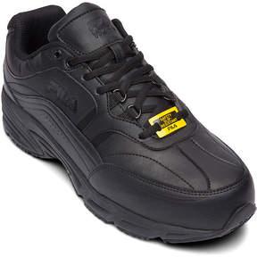 Fila Memory Workshift Slip-Resistant Steel-Toe Mens Work Shoes