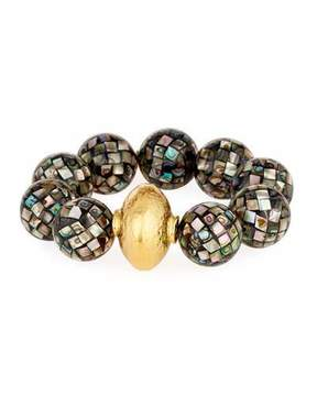 Devon Leigh 18k Gray Pearlescent Bead Bracelet