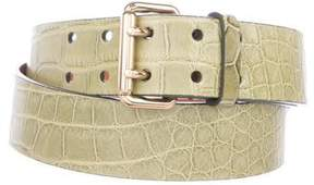 Ralph Lauren Alligator Dress Belt