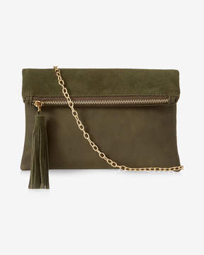 Express Street Level Tassel Leather Crossbody Bag